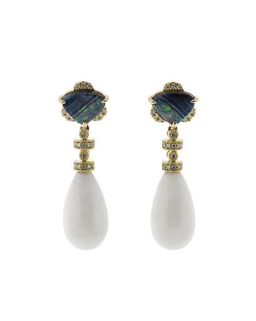 Dana Rebecca - Multicolor Boulder Opal Earrings - Lyst