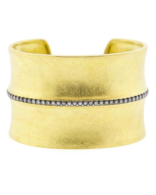Todd Reed - Metallic Diamond Line Wide Gold Cuff - Lyst