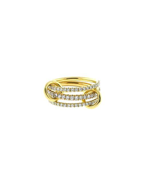 Spinelli Kilcollin - Metallic Ursula Three Link Diamond Pave Rings - Lyst