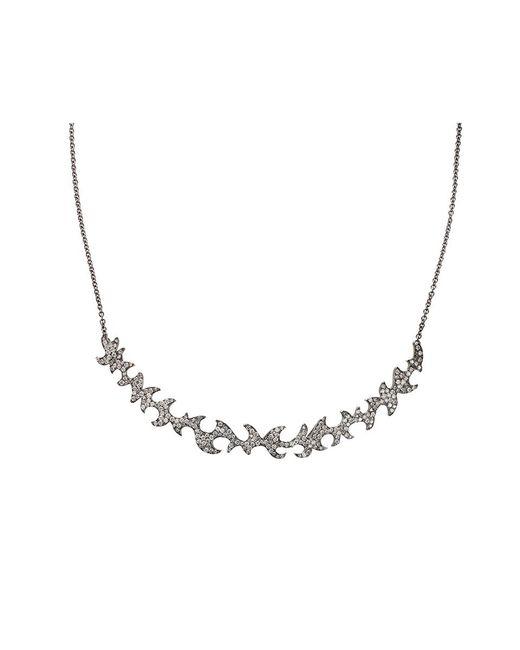 Colette - White Diamond Pattern Necklace - Lyst