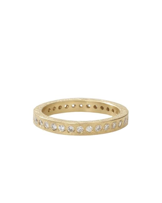 Todd Reed | Metallic Flush Set White Diamond Eternity Band | Lyst