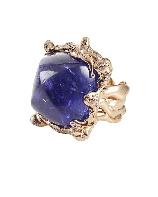 Lucifer Vir Honestus | White Cabochon Tanzanite Ring | Lyst