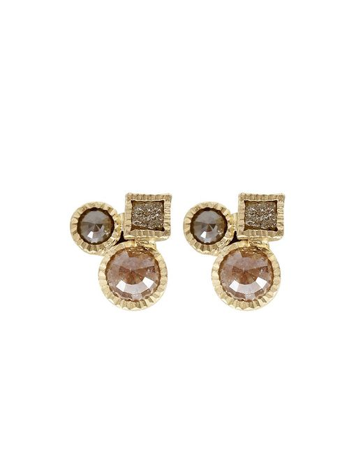 Todd Reed | Metallic Raw Diamond Cluster Earrings | Lyst