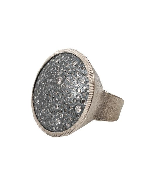 Todd Reed | Metallic Diamond Pave Circle Ring | Lyst