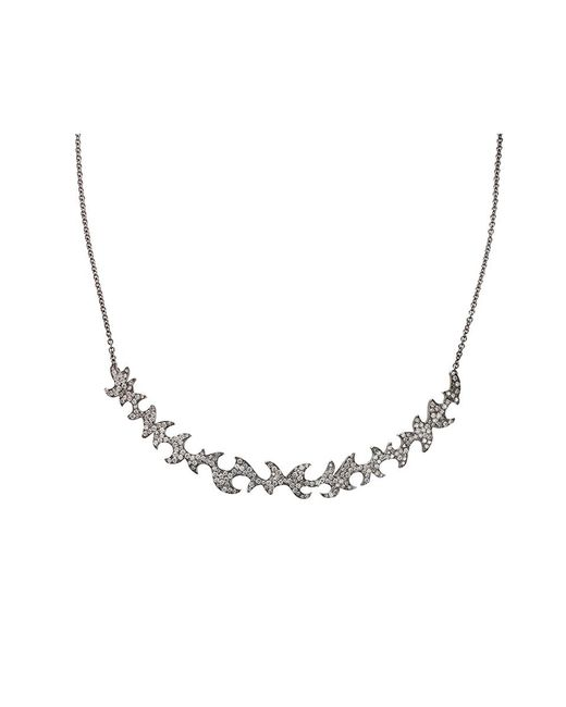 Colette | White Diamond Pattern Necklace | Lyst