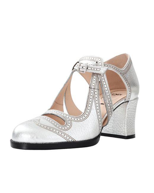 Fendi   Chamelon Metallic Close Toe   Lyst