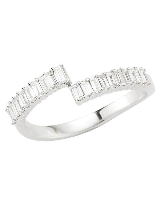 Dana Rebecca - Metallic Sadie Pearl Diamond Baguette Ring - Lyst