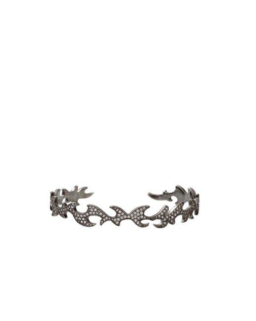 Colette | Metallic Diamond Pattern Cuff Bracelet | Lyst