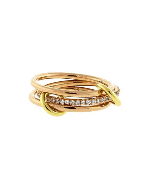 Spinelli Kilcollin | Metallic Sonny Three Link Diamond Rings | Lyst