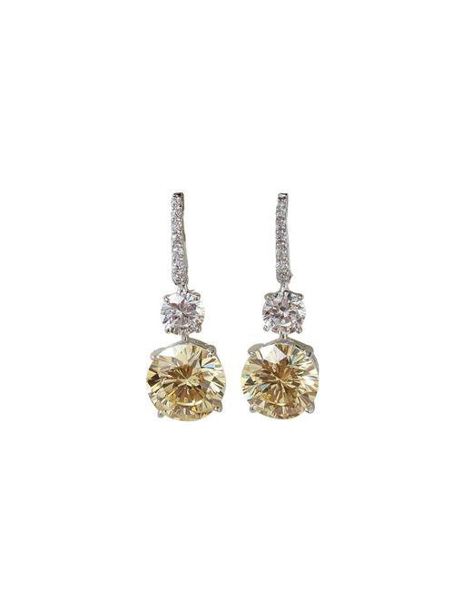 Fantasia Jewelry   Metallic Pave Top Earrings   Lyst