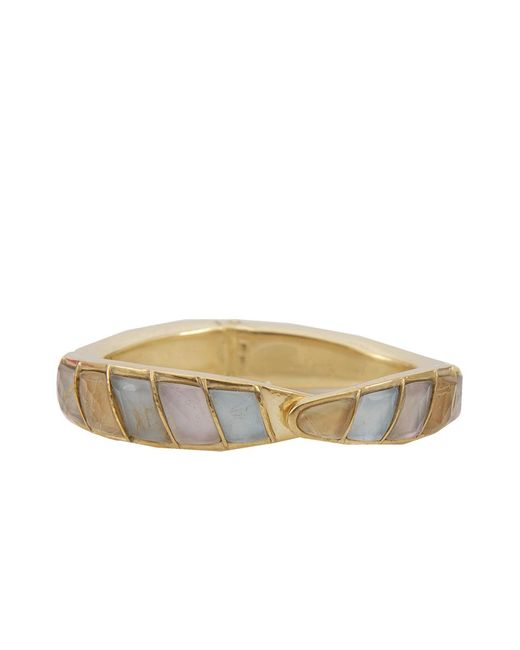 Vaubel - Metallic Stone Hinged Cuff - Lyst