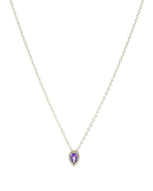 Alison Lou - Metallic Amethyst Pendant Necklace - Lyst