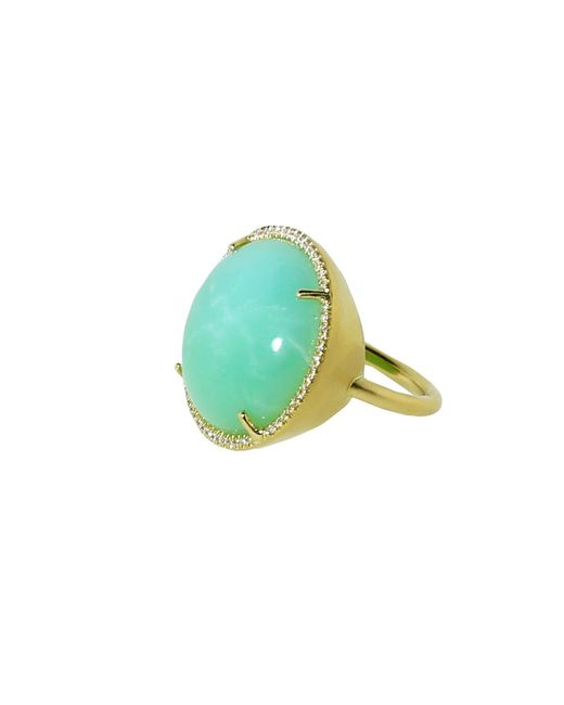 Irene Neuwirth | Green Cabochon Mint Chrysoprase Ring | Lyst