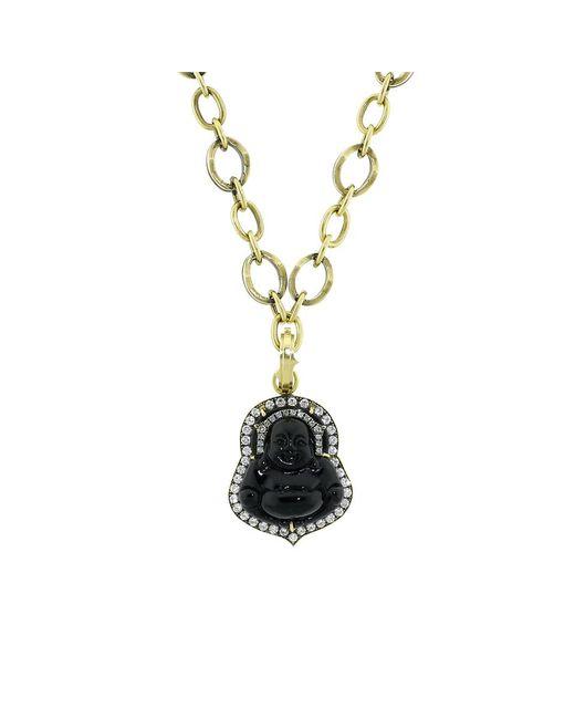 Sylva & Cie | Black Jade Buddha Pendant | Lyst