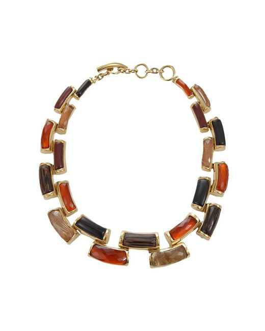 Vaubel | Metallic Curved Wood Link Necklace | Lyst