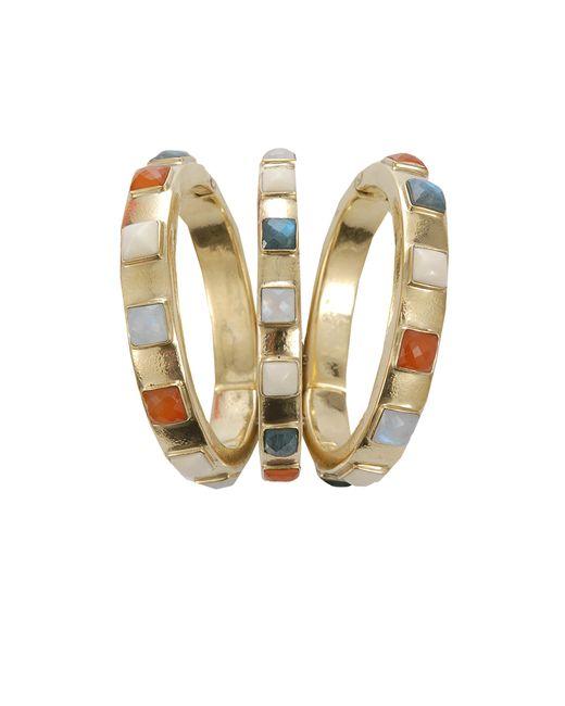 Vaubel | Metallic Square Stone Triple Bangle | Lyst