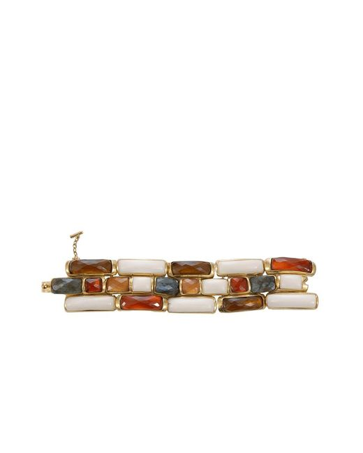 Vaubel | Metallic Link Rectangle Wood Bracelet | Lyst