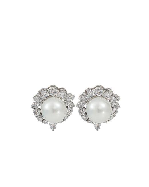 Fantasia Jewelry | Metallic Pearl Stud Earrings | Lyst