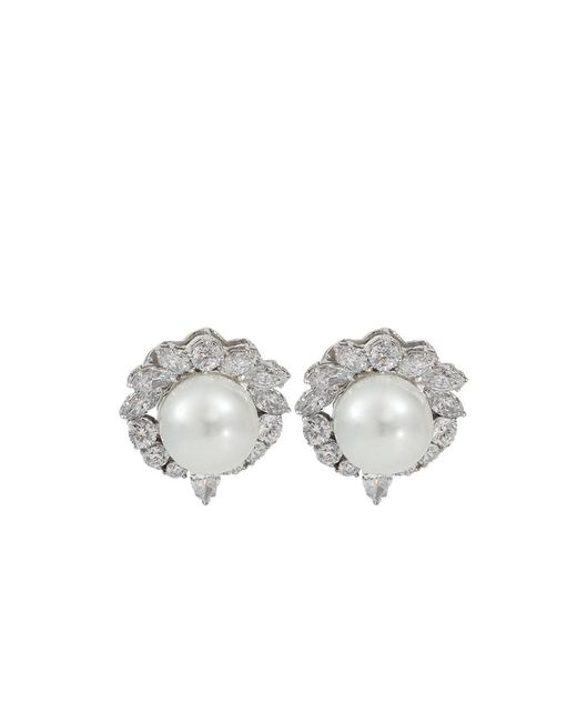 Fantasia Jewelry | Metallic Pearl Stud Earrings | Lyst