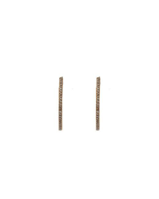 Yossi Harari - Brown Lilah Cognac Diamond Pave Hoop Earrings - Lyst