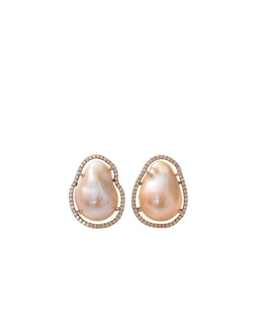 Jordan Alexander - Natural Fresh Water Pearl Slice Earrings - Lyst