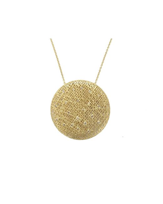Yossi Harari | Metallic Large Round Lace Pendant Necklace | Lyst