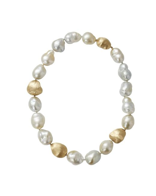 Yvel | White Baroque Pearl Necklace | Lyst