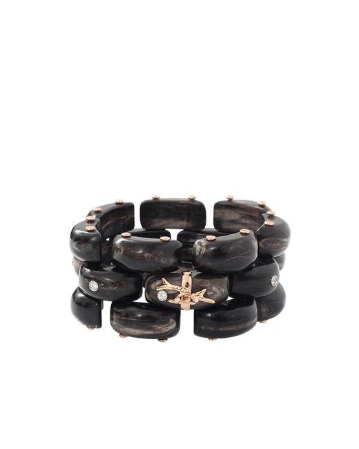 Federica Rettore | Black Alba Panthere Zebu Horn Bracelet | Lyst