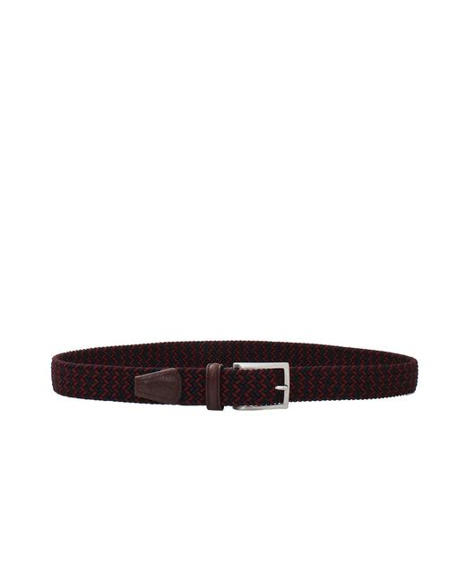Luciano Barbera | Purple Solid Braided Belt for Men | Lyst