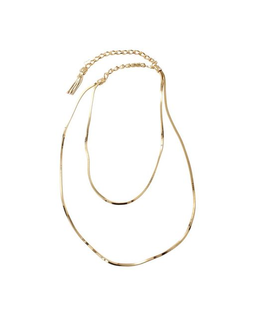 Lanvin | Metallic Art Deco Long Necklace | Lyst