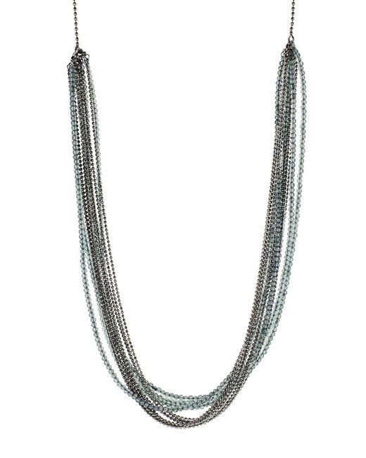 Brunello Cucinelli - Green Monili Multi Color And Strand Wrap Necklace - Lyst