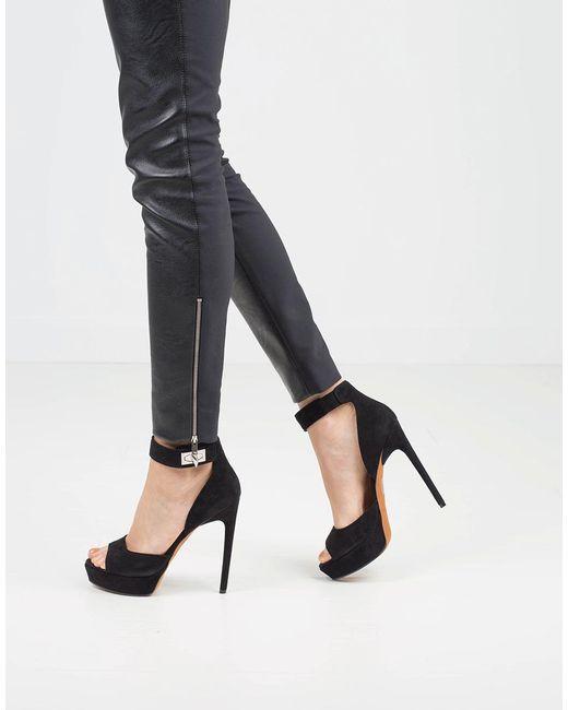 2f9916d95fbc Lyst - Givenchy Suede Sharlock Platform Shoe in Black - Save 50%