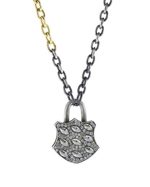 Sevan Biçakci - Multicolor Medium Diamond Lock Pendant - Lyst