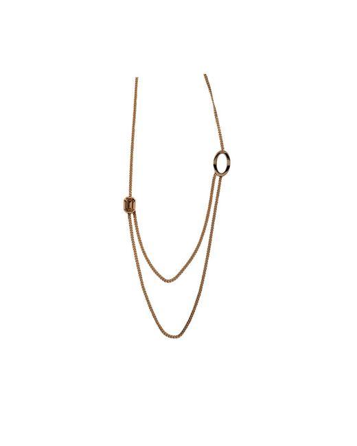 Rebecca | Metallic Elizabeth Long Circle Crystal Necklace | Lyst