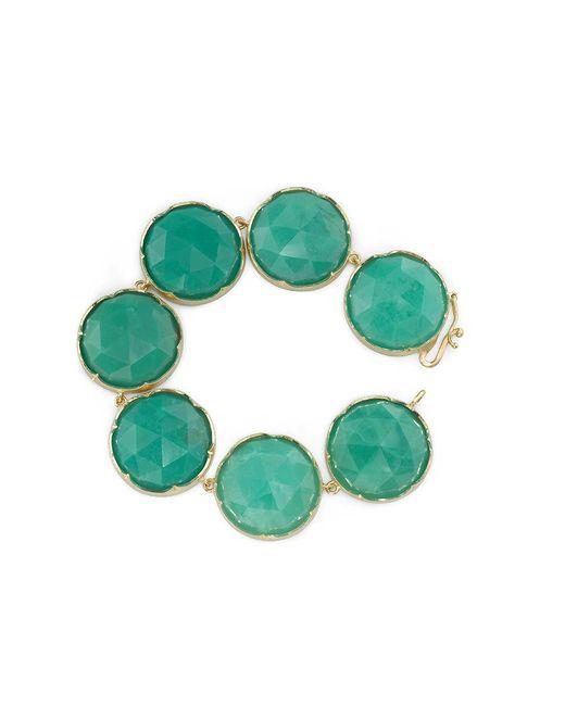 Irene Neuwirth | Blue Rose Cut Chrysoprase Bracelet | Lyst