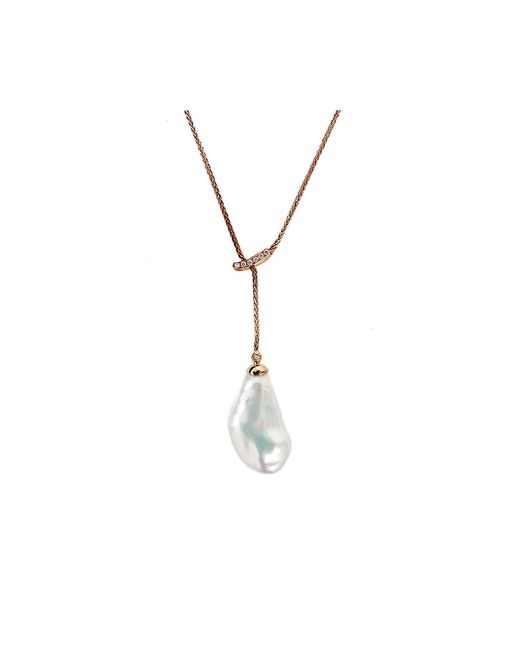 Yvel | White Baroque Fresh Water Pearl Necklace | Lyst