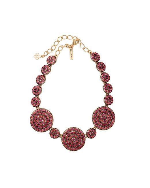 Oscar de la Renta | Pink Disk Necklace | Lyst