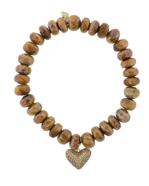 Sydney Evan - Metallic Heart Charm Bracelet - Lyst