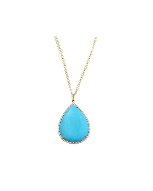 Irene Neuwirth | Blue Pear Shape Turquoise Necklace | Lyst