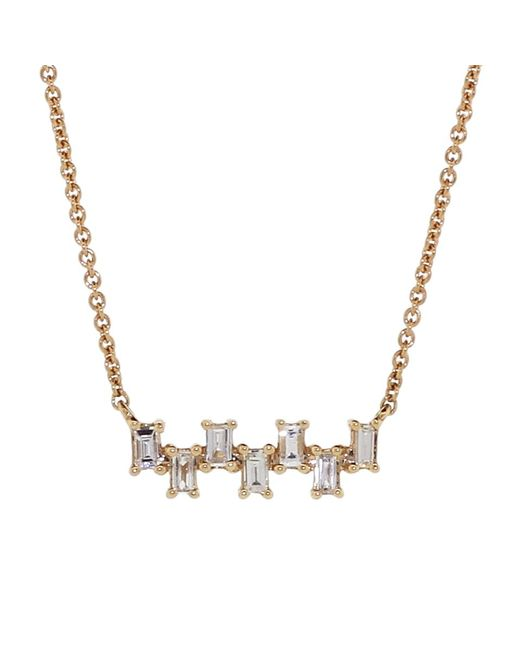 Dana Rebecca - Metallic Sadie Pearl Diamond Necklace - Lyst