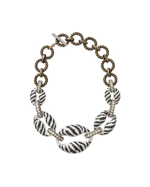 Lanvin - Black Mina Tiger Chain Necklace - Lyst