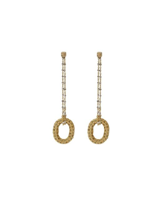 Carolina Bucci | Metallic 1885 Yellow Sapphire Link Earrings | Lyst
