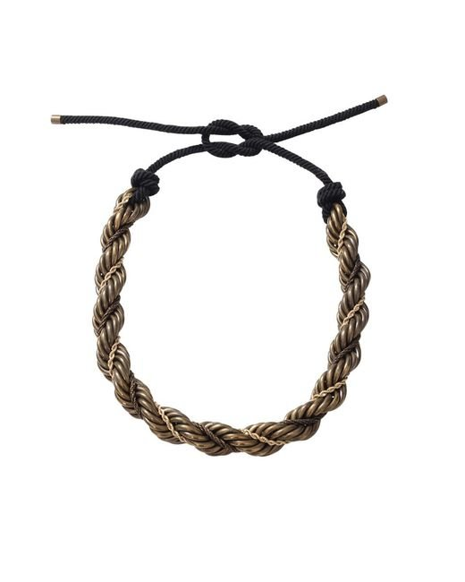 Lanvin | Metallic Katoucha Multi Chain Necklace | Lyst