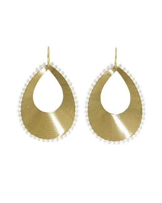Irene Neuwirth | Metallic Akoya Pearl And Pear Shaped Gold Earrings | Lyst