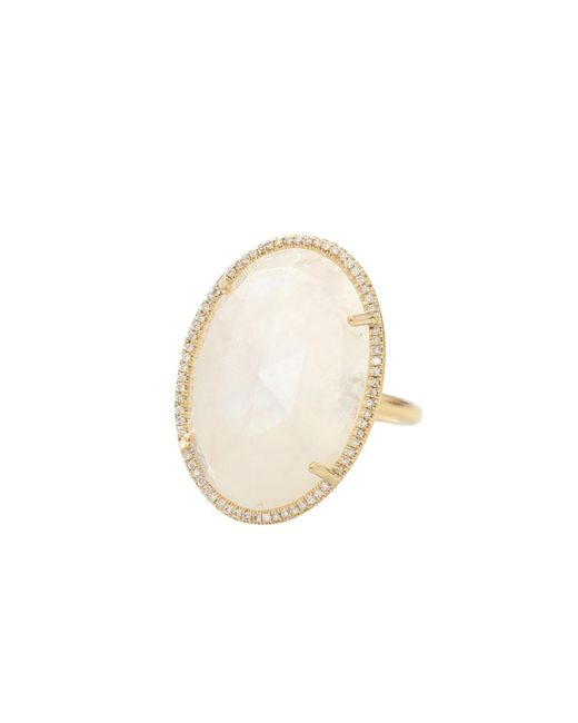 Irene Neuwirth | Metallic Rose Cut Rainbow Moonstone Ring | Lyst
