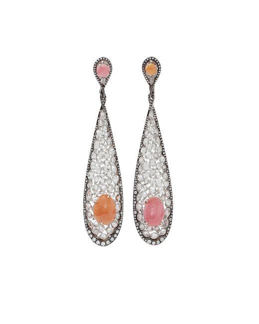 Arunashi | Metallic Conch Pearl And Diamond Earrings | Lyst