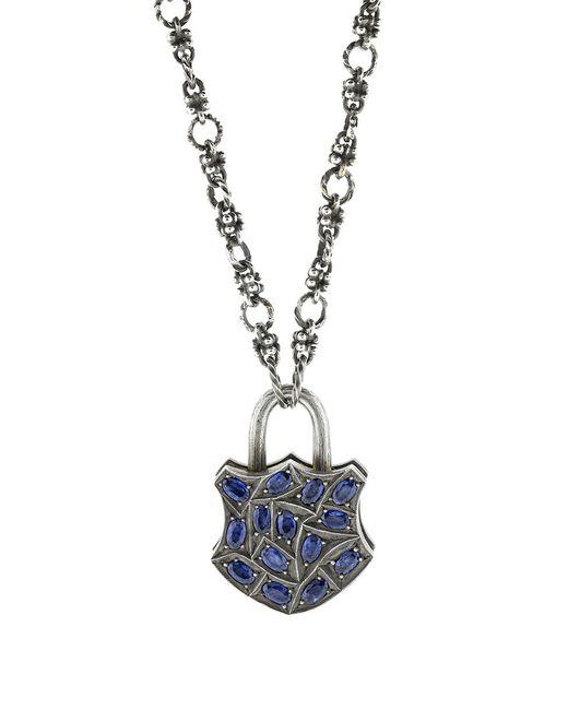 Sevan Biçakci - Large Blue Sapphire Lock Pendant - Lyst