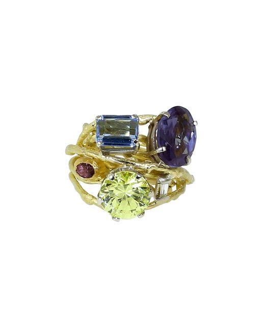 Boaz Kashi | Multicolor Aquamarine And Amethyst Ring | Lyst
