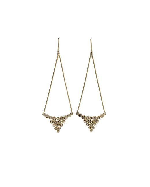 Todd Reed | Metallic Brown Diamond Drop Earrings | Lyst