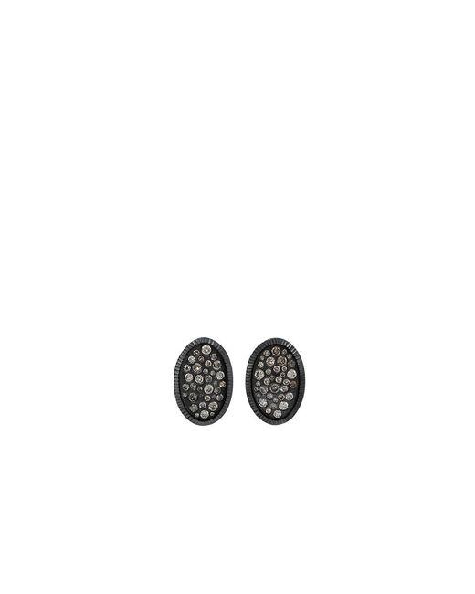 Todd Reed | Metallic Diamond Oval Stud Earrings | Lyst